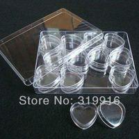 arts crafts organizer - mlx12pc unique Plastic Jewelry Tools Box Case Craft Organizer Storage Beads nail art storeage bottles