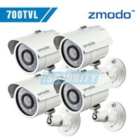 Wholesale Zmodo CCTV surveillance security Cameras CMOS tvl H IR leds night vision waterproof outdoor camera