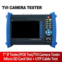 Wholesale 7 quot IP CCTV Tester Monitor Analog Cameras IP Cameras HD TVI Camera Test Video Display PTZ Control Cable Scan POE Output