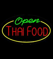 animated air - Thai Food Open Animated Clear Backing Neon Sign Real Glass Tube Neon Light Sign Avize Neon Nikke Air Jorddan Neon Sign