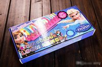 5-7 Years Multicolor Rubber 2014 hot sales Frozen Fun colourful loom bands DIY bracelets rubber rainbow band Anna Elsa bracelet toy for children child