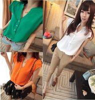 womens tops - Fashion Colors Womens Short Sleeve Button Down T Shirt Tops Blouses Shirts