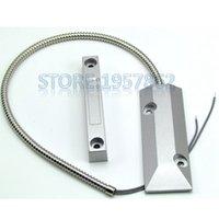 aluminum door closer - Aluminum alloy magnetic metal shutter door sensor metal magnetic switch magnetic switch normally closed