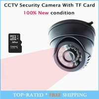 Wholesale Cheapest Cctv Camera Recorders - Automatic Cheap Security TF Micro SD Card Dome IR CCTV Camera   Dome DVR Video Night Vision Auto Car Driving Recorder 24LEDs