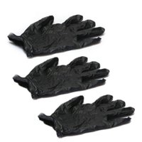 exam gloves - Nitrile Exam Gloves Piercing Powder Latex Black with Box S