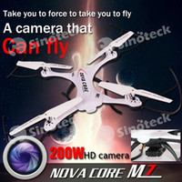 axis rotation - Camera Drones NOVA CORE M7 RC Drone Six Axis Gyroscope Aircraft Led Lamp Four Channel GHZ Degree Rotation Factory DHL