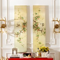 Wholesale Home to find a very modern frameless decorative painting inkjet Chinese painting birds and flowers two sets of Cleveland Valenci