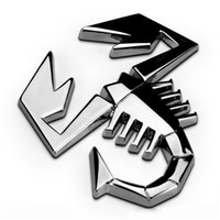 Wholesale 1 D M Car Metal Znic Alloy Adhesive Badge Emblem Logo Decal Sticker Scorpion Universal