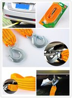 Wholesale Yellow Nylon Car Towing Ropes Practical Vehicle Tools Fit for Any Cars Trucks SUVs Trailers M Length Forging Iron Hooks