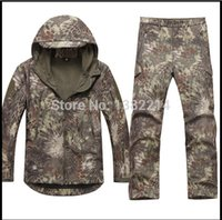 Wholesale Shark skin soft shell TAD outdoors tactical military fleece jacket uniform pants suits Camouflage hunting clothes