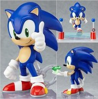 Wholesale Cute quot Funny Blue Sonic the Hedgehog Vivid Nendoroid Series Boxed PVC Action Figure Model Collection Toy