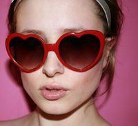 Cheap cheap sunglasses heart-shaped Best peach heart sunglasses