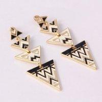 abc patterns - EA132geometry decorative pattern triangle long drop earrings for women charm fashion earrings TLL abc