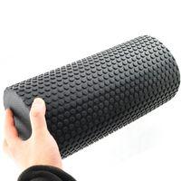 Wholesale High Density Floating Point Yoga Pilates Fitness Gym Foam Roller Massage Black