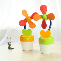aa birthday gifts - 2016 Promotion Direct Selling Usb Fan Funny Popular Flower Shape with Light Usb aa Battery Birthday Gift Trinkets Summer