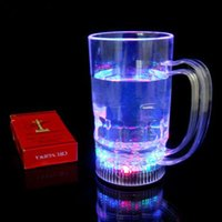 Wholesale New Flashing Glowing Color Change LED Beer Wine Glass Cup for Party Bar Beer Steins Best Price