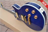 blue guitar - New Blue color paste Paper tiger maple mahogany Supreme Electric Guitar With hard case