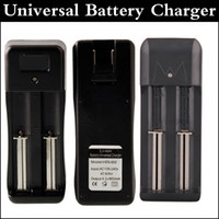 Wholesale Dual Slots Universal Charger for Rechargeable Li ion Battery Universal Charger For Battery factory price via DHL