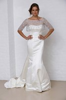 Model Pictures bridal fabric - plus size wedding dresses with wrap bateau cape sequins beaded short sleeves mermaid satin wedding gowns fine fabric bridal gowns