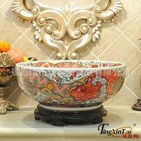 Wholesale Selling crafts New shaped flowers home aquarium fish tank European retro creative Jingdezhen Ceramic TXTW05