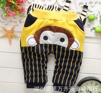Wholesale 2015 new baby fashion PP pants autumn winter cartoon boy warm slacks candy color Child comfortable baby pants in stock A14