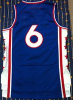 Wholesale Julius Erving jersey blue basketball jersey all name number stitched