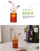 Wholesale Oil can leak proof glass Liquid seasoning bottle capped Creative environmental protection kitchen supplies