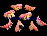 Halloween   DHL Freeshipping Terrible Funny Goofy Fake Rotten Teeth Halloween Party Favor Creepy Dentures gift