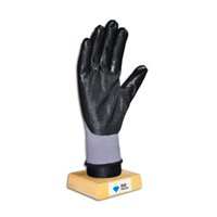 Wholesale 1212B Black foam nitrile coated gloves with nylon or polyester shell