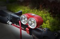 battery bikes uk - 2015 New Waterproof Aluminum LED Bike Light Lumen x CREE XM L T6 LED Bicycle Lamp mAh Battery EU US UK AU Charger
