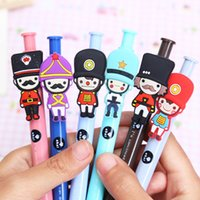 ballpoint pens uk - 6pcs Creative stationery lovely British soldiers ballpoint pen fashion UK London style cartoon ball pen for School Supplies