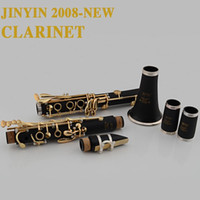 Wholesale JINYIN New Clarinet high quality gold Lacquer senior B flat clarinet Sino US joint venture Bb woodwind instrument with Case