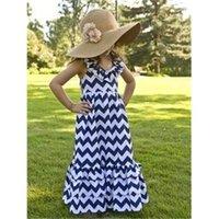 chevron dresses - children dresses summer girl dress chevron maxi dress adorable cotton Halter long dress for girl T kids party dress