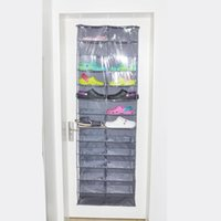 Wholesale 13 Shelf Grids Hanging Shoes Wardrobe Foldable Shoes Storage Container Box Bag Hanging Pouch cm H14028