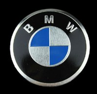 Wholesale 2 x Motorcycle For BMW EMBLEM LOGO FRONT HOOD REAR TRUNK BADGE SYMBOL ROUNDEL Badge Decal Sticker