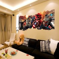 Wholesale D Movie The Avengers Removable Vinyl Wall Sticker Decals Kids Nursery Room Widow DIY Wall Stickers
