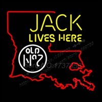beer louisiana - Jack Lives Here Louisiana Neon Sign Handicraft Cowboys Niike Jordaan Neon Real Bud Light Beer Commercial Neon Sign Gifts x24 quot