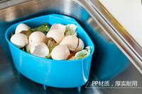 Wholesale 2016 new Storage Holders Racks Creative kitchen sink triangular plastic trash debris storage basket drain basket washing basket