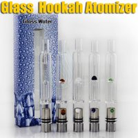 water tank - Pyrex Glass Hookah atomizer vhit atomizer tank Dry Herb Wax Vaporizer herbal vaporizers pen water filter pipe ecig e cig cigarette bongs DHL