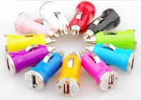 Wholesale Cheap Universal Bullet Mini USB Car Charger and Adapter for iphone S S C plus Galxy S3 S4 S5 HTC LG Phone IPAD MP4