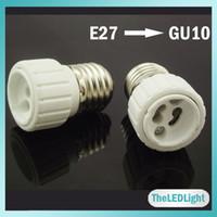Wholesale 10PCS E27 to GU10 Converter Adapter Base Holder Socket for LED Light Lamp Bulbs
