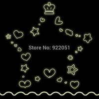 live points - Popular Diy five pointed star Wall Sticker Fluorescence wallpaper Wall Mural Home Decor Room Kids Room Y0003