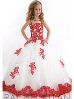 little girl dresses - New Arrival little Kids Outstanding Lace Beaded crystal Organza Toddler Beauty Pageant Dress Flower Girl Dresses Little Girls Gowns AS4