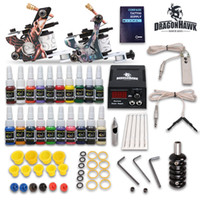Beginner Kit tattoo supplies - Complete Tattoo Kit Machine Guns Ink Equipment Needle Power Supply D175GD