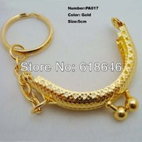 Wholesale PA017 new cm glossy gold tone metal chain frame kiss clasp for purse bag purse frame DIY bag purse accessory
