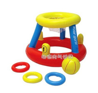 basketball water game - multifunctional inflatable water basketball basketball hoop and ferrule water toys can shoot game