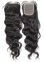 "Cheap Brazilian virgin hair body wave silk base lace closure 8""-20"" in stock free shipping"