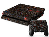 ps4 console - Starry Starry Night Decal Skin Protective Sticker For SONY PS4 Console Controll