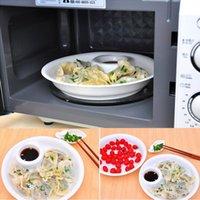 Wholesale Dual layer Disc Plastic Fruit Bowl Dumplings Dish Tool