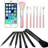 Wholesale 7PCS Mini Portable Cosmetic Makeup Brush Set Cartoon Kitty Make Up Brushes Kit Mini Cute Portable Makeup Brush